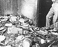 Burned documents at Gestapo headquarters in Via Tasso.jpg