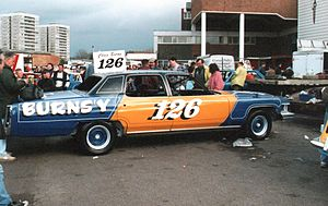 Banger racing - Chris Burns' third generation Cadillac de Ville prior to a meeting at Wimbledon Stadium.