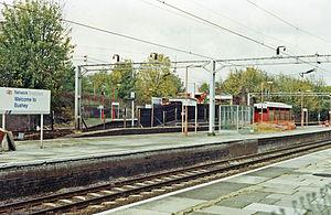 Bushey railway station - Platform view 1990