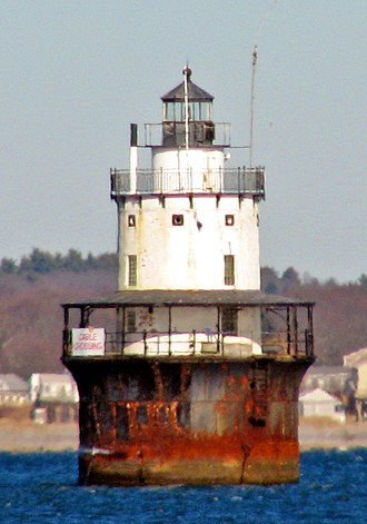 Caisson lighthouse - Image: Butler Flats Light, New Bedford, MA