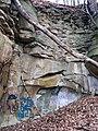 Byer Sandstone (Lower Mississippian; State Farm Quarry, Newark, Ohio, USA) 1 (31924477274).jpg