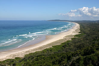 Northern Rivers - View south from Byron Bay, the most easterly point on mainland Australia.