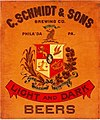 C. Schmidt & Sons Pre-Prohibition sign.jpg