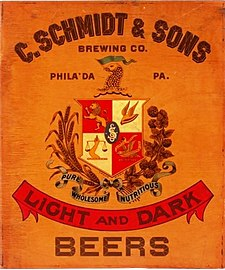 C. Schmidt & Sons Pre-Prohibition sign.jpg