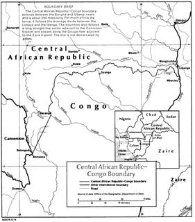 Central African Republic–Republic of the Congo border international border