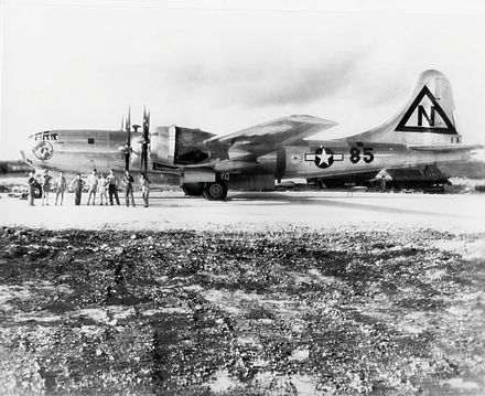 Silverplate B-29 Straight Flush. The tail code of the 444th Bombardment Group is painted on for security reasons. CGP-JPAP-112.jpg