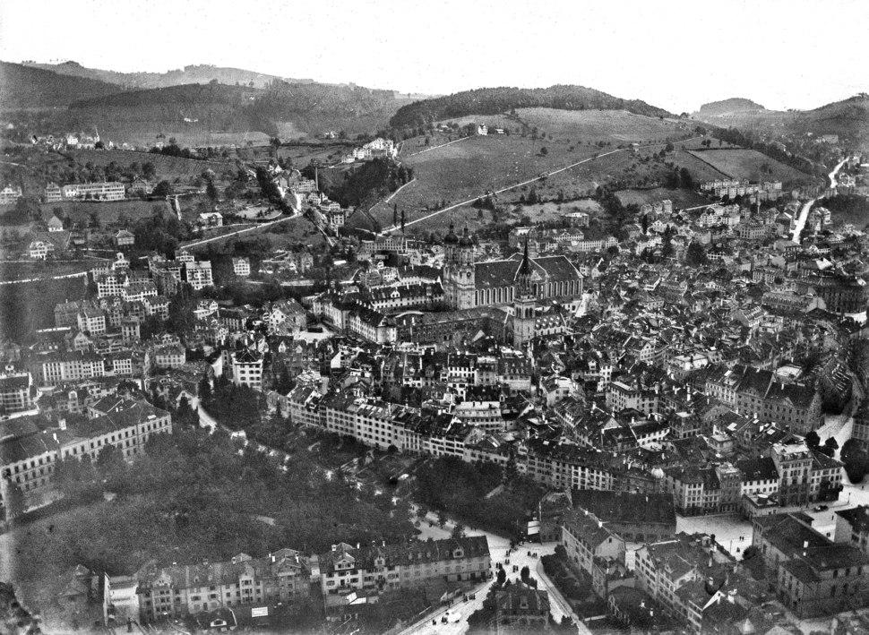CH-NB - St. Gallen, Altstadt - Eduard Spelterini - EAD-WEHR-32028-A