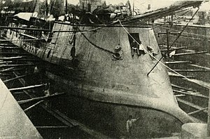 Japanese ironclad Kōtetsu - View of bow