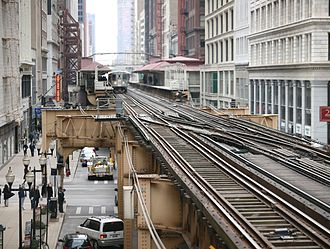 Transportation planning - Chicago Transit Authority Chicago 'L' trains use elevated tracks for a portion of the system, known as the Loop, which is in the Chicago Loop community area. It is an example of the siting of transportation facilities that results from transportation planning.