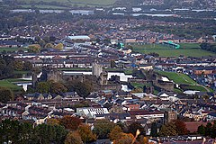 Caerphilly town and castle.jpg