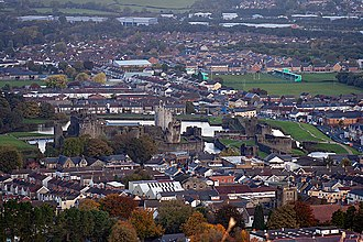Caerphilly - Image: Caerphilly town and castle