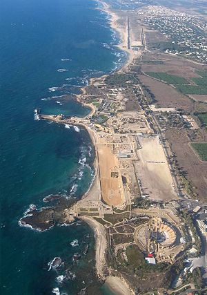 Caesarea Maritima - Aerial photo