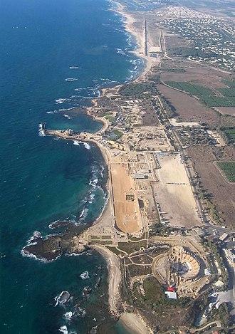 Caesarea Maritima - Aerial photo