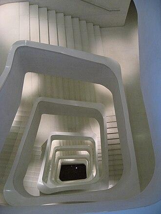 CaixaForum Madrid - Central stairway.