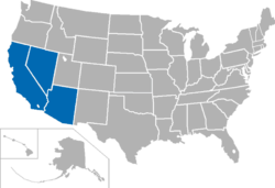 California Pacific Conference locations