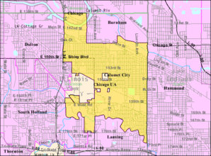 Calumet City IL 2009 reference map.png