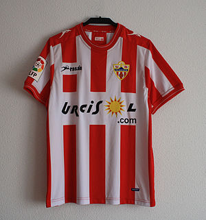 UD Almería - Almería's uniform in the 2011–12 season.