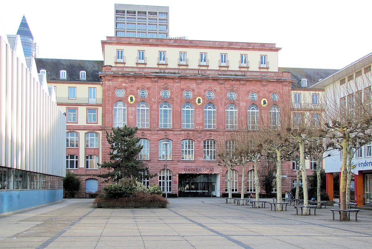 Johann Wolfgang Goethe Universität Frankfurt Am Main