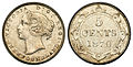 Canada Newfoundland Victoria 5 Cents 1870 (Obverse 1).jpg