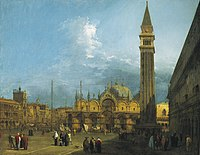 Canaletto (Venice 1697-Venice 1768) - Piazza San Marco looking East towards the Basilica and the Campanile - RCIN 405934 - Royal Collection.jpg