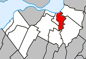 Candiac, Quebec - Image: Candiac Quebec location diagram