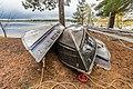 Canoes on Side Lake - McCarthy Beach State Park, Minnesota (37248131540).jpg