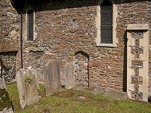 St Martin's Church, Canterbury - Roman bricks in the chancel wall