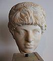 Cap de l'estàtua de Luci Ver, segona meitat del segle II dC. Museu arqueològic d'Olímpia.JPG