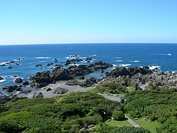 View of Pacific Ocean from Cape Muroto