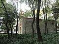 Capilla de San Lorenzo Mártir, Ciudad de México, al atardecer.JPG