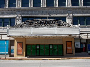 Kahl Building - Capitol Theater marquee