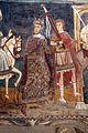 Cappella di san silvestro, affreschi del 1246, storie di costantino 07 papa condotto in roma 5.jpg