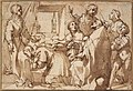 Cardinal Paolo Sfondrato Kneeling Before Saint Cecilia, Accompanied by other Saints MET DT6460.jpg