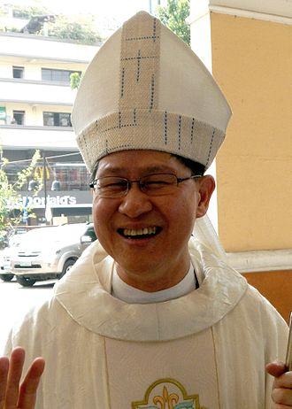 Luis Antonio Tagle - Image: Cardinal Tagle at San Fernando de Dilao