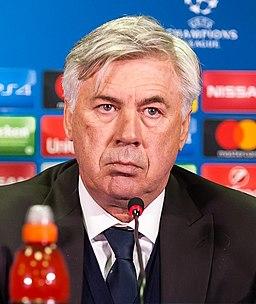 Carlo Ancelotti 2016 (cropped)