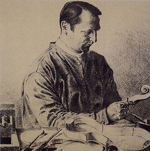 Carlo Bisiach - Carlo Bisiach, sketch portrait, in his atelier