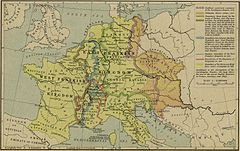 Frankish Empire and its tributaries (AD 843–888)