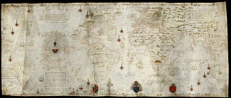 Pacific Ocean - Made in 1529, the Diogo Ribeiro map was the first to show the Pacific at about its proper size