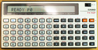 Casio FX-702P - A 28-year-old FX-702P in working condition