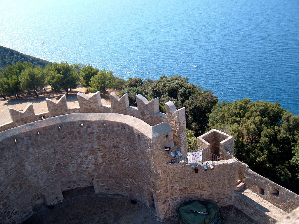 Castle of Populonia , seen from the tower