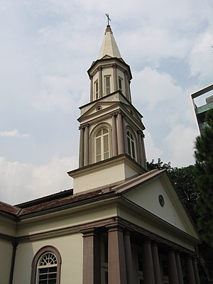 Cathedral of the Good Shepherd - The steeple of the Cathedral designed by Charles Andrew Dyce.