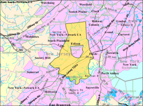 Census Bureau map of Edison, New Jersey.png