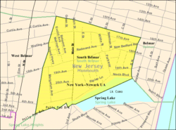 Census Bureau map of Lake Como, New Jersey