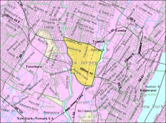 Ridgefield Park, New Jersey - Image: Census Bureau map of Ridgefield Park, New Jersey