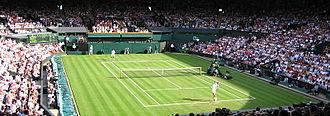 Tim Henman - Tim Henman playing at Wimbledon, 2005