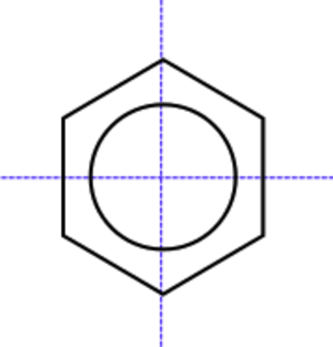 Centrosymmetry - Benzene is a centrosymmetric molecule having a centre of symmetry at the centre