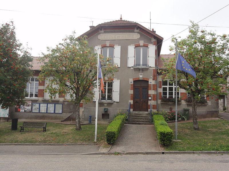 Châtillon-sous-les-Côtes (Meuse) mairie-école