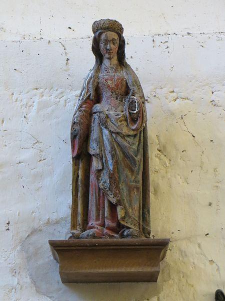 Statue de sainte inconnue (la Vierge?)