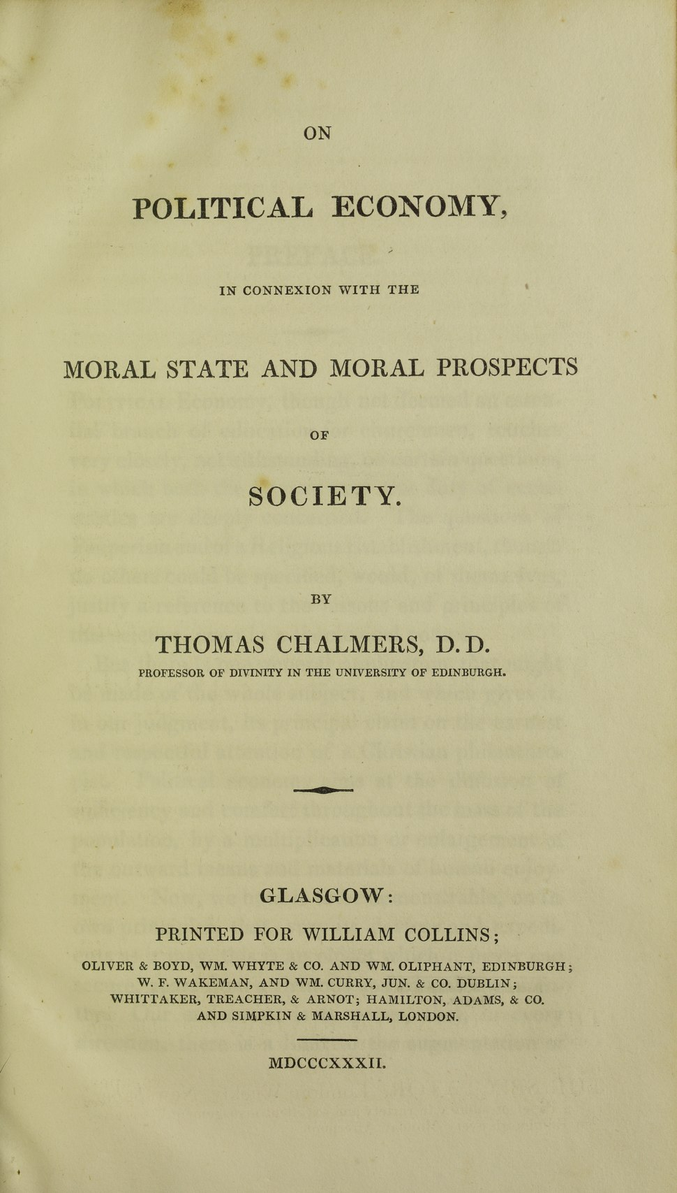Chalmers - On political economy, 1832 - 5867043
