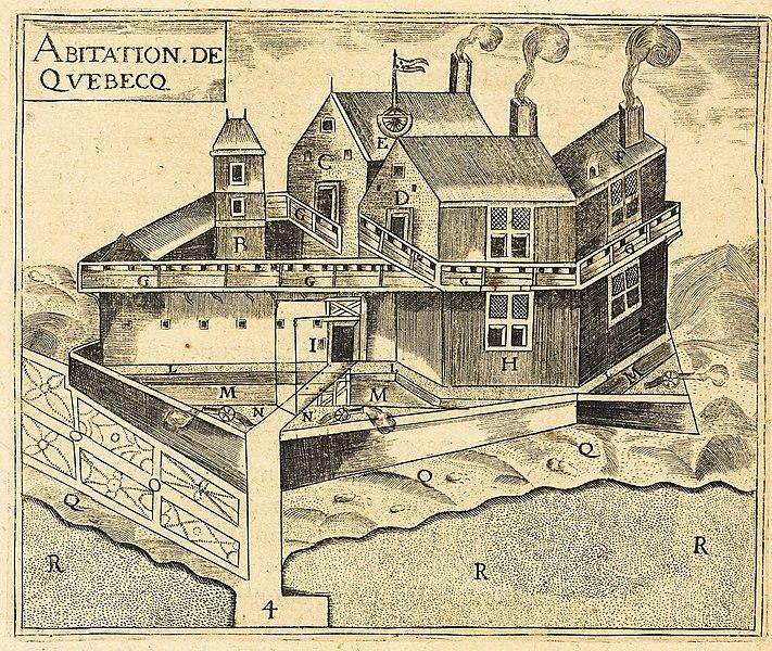 Fichier:Champlain Habitation de Quebec.jpg